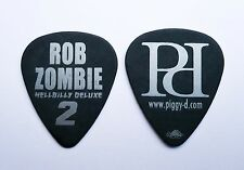 Rob Zombie Guitar Pick 2010 Hellbilly Deluxe 2 Piggy D Black And Silver pick