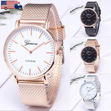 Women Mens Watch Stainless Steel Analog Quartz Analog Geneva Luxury Wrist Watch