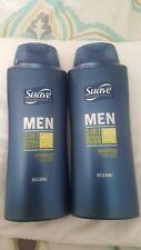 2 Suave Men 3in1 Citrus Rush Shampoo/Conditioner/BodyWash, 28fl oz. Manly smell.