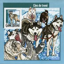 Guinea-Bissau Sled Dogs Stamps 2015 MNH Huskies Tamaskan Dog Animals 1v S/S