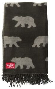 Rawlings Dyed Yarn Allover Traveling Bears Pattern Throw Blanket 70 x 53 P22481