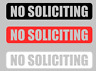 NO SOLICITING Sign Decal Sticker Vinyl for Door Window Wall - Black White or Red