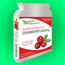 Cranberry Extract - 6000mg - 60 Capsules - Urinary Tract Health - Antioxidant
