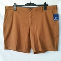 George Mens Earthy Brown Flat Front Slash Pocket Chino Shorts Size 42 NWT