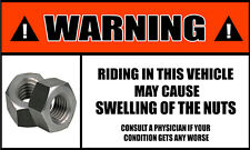 Riding May Cause Swelling in Nuts bumpy ride 2pack Bumper Sticker Decals OWS 65