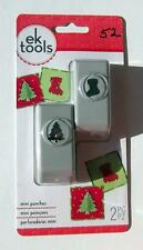 EK Tools  MINI  Punches CHRISTMAS TREE N STOCKING Scrapbooking, Craft, Quilling