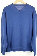 Tommy Bahama Mens Sweater XL Blue Reversible V Neck Pullover