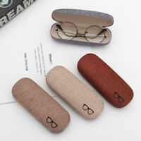 New Men Women Kids Leather Eye Glasses Hard Shell Reading Spectacle Case