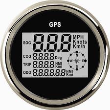 MPH SOG COG ODO TRIP Meter For Motorcycle Car Truck Boat Yacht Digital GPS 85MM