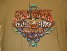 Delta Myrtle Beach Bike Week Spring Rally 2002 brown T Shirt XL
