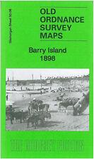 OLD ORDNANCE SURVEY MAP BARRY ISLAND ROMILLY PARK COLD KNAP POINT EWE ROCKS 1898