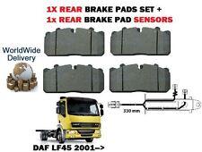 DAF LF 45 7.5 Tonnen LKW 2001> nach HA BREMSSCHEIBEN BELÄGE SATZ + Heck Belag