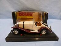 Burago 1:24 1928 Mercedes Benz SSK W06 Cream brown Diecast Model Car Toy LUPIN 3