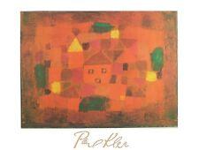 Paul Klee Landschaft bei Sonnenuntergang Poster Kunstdruck Bild 80x60cm