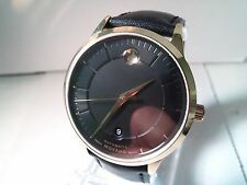 Movado Museum Large Men's Wrist Watch Gold Plated, date, Automatic, sapphire cry