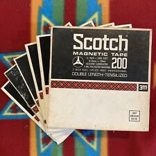 """Vintage Scotch Magnetic 7"""" Reel To Reel Tapes LOT OF 6 1/4"""" 150s & 200s"""
