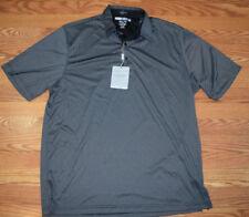 NWT Mens GREG NORMAN Aqua Blue Black ML75 Luxury Microfiber Polo Shirt L XL XXL