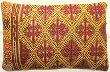 (40*60cm, 16*24cm) Textured handmade pillow cover Morrocan tribal red yellow