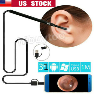 6 LED Visual Endoscope Otoscope Ear Camera Scope Earwax Removal Cleaning Tools