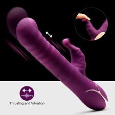 Luvkis 3 Thrusting G-Spot Vibrating Dildo Wand Massager Women Stimulator Sex Toy