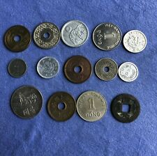 Lot of 14 Mixed China and World Coins