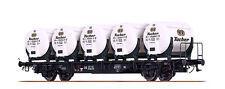 Brawa 49112 H0 Behältertragwagen Bauart BTmms 58 Tucher DB EP III NEU OVP /