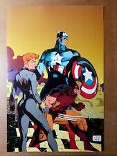 Uncanny X-Men 268 Captain America Wolverine Black Widow Marvel Poster by Jim Lee