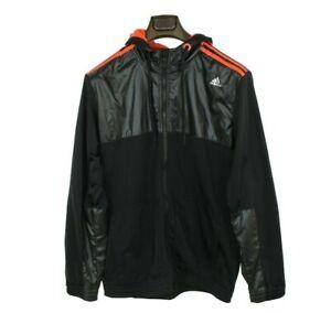 Adidas Sports Jacket Large Wet Look Track Casuals Gym Training