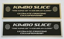 Kimbo Slice UFC nameplate for signed mma gloves photo or case