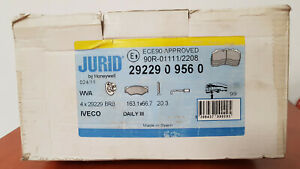 Jurid Brake Pads Front 2922909560 for Iveco Daily