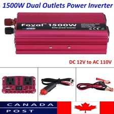 Power Inverter 1500W DC 12V to AC 110V Converter single USB port CA