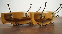 50er Rockabilly Garderobe Vintage Wandgarderobe Retro Flurgarderobe Holz 1/2