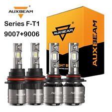 AUXBEAM 9007+9006 LED Headlight Fog Bulbs Canbus for Dodge Ram 1500 2500 3500
