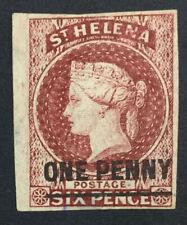 MOMEN: ST HELENA SG #3 1863 IMPERF MINT OG H £150 LOT #5160