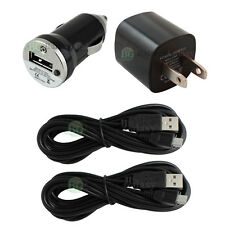 2 USB 10FT Cable+Wall+Car Charger for Android Phone Samsung Galaxy Note 2 3 4 5