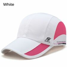 Men Women Outdoor Sport Baseball Mesh Hat Running Sun Visor Quick-drying Cap White