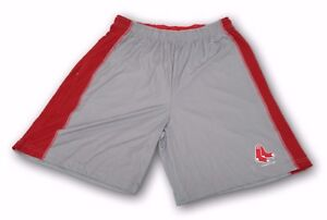 Boston Red Sox MLB Officially licensed Gray Red TX3 Cool Polyester Shorts L-3XL