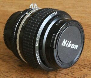 Nikon Nikkor 50mm F/1.2 AI Lens - With Front and Rear Lens Caps