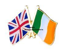 Ireland UK Badge Friendship England Irish Republic Union Jack Flag Metal Pin GB