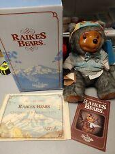 1986 Raikes Bears Reginald Bear In Original Box w/COA - Applause Inc.