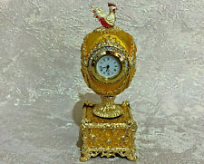 Faberge egg Musical Gold Chantecler Russian Kelch. jewelry box. Made in Russia
