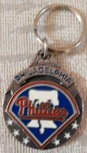 Philadelphia Phillies Keychain Pewter Key Chain Liberty Bell 3D