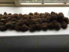 Real fur scarf brown new