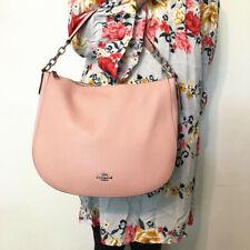 NWT COACH F31399 Pebble Leather Elle Hobo Crossbody Shoulder Bag Petal Pink