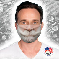 Santa Claus Beard & Mustache Christmas face/mouth mask-Reusable,Soft-Free Shipng