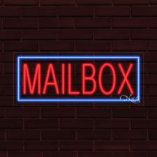 "Brand New ""Mailbox"" w/Border 32x13X1 Inch Led Flex Indoor Sign 30571"
