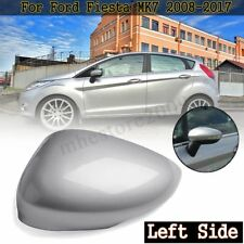 Left Driver Side Silver Wing Door Mirror Cover Cap For Ford Fiesta MK7 2008-2017
