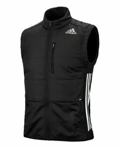 Running Gilet Mens Adidas Own The Run Vest Black Zip Pockets Recycled
