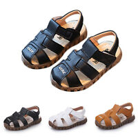 2017 Baby Kids Boys Sandals Summer Children Breathable Antiskid leather shoes AU