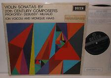 SXL 6351 Prokofiev Debussy Milhaud Violin Sonatas Ion Voicou & Monique Hass WBG